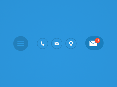 Simple Blue Buttons