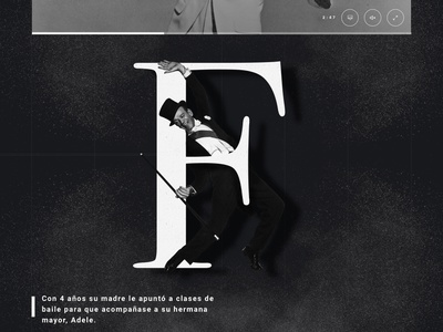 Fred Astaire - RTVE.es design colors special page games web trend clean modern responsive rtves madrid flat ui ux