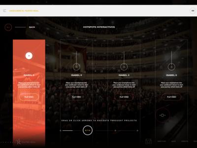 Menu Hotspots Interactive - Teatro Real