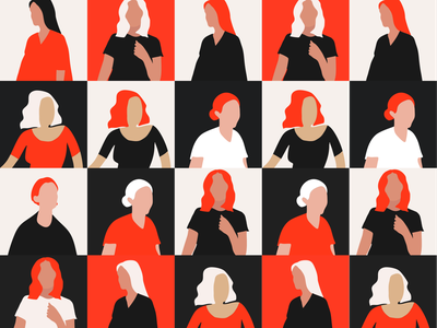 A thousand women murdered illustration responsive modern rtves madrid flat ui ux