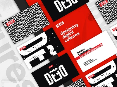 WeareDe — Agency, Business Cards cards red grunge helvetica grid