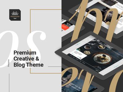 Prospero — Preview Image creative blog template theme premium gold web design
