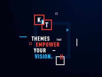 Kubik Themes — Brand logo dark blue red brand theme square cube