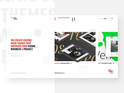 Kubik Themes — Website web minimal clean ui homepage website cube
