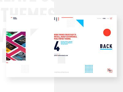 Kubik Themes — Website pattern circle square website web ui minimal homepage cube clean