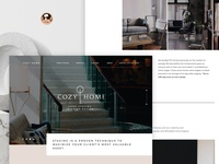 Home staging and interior design landing page