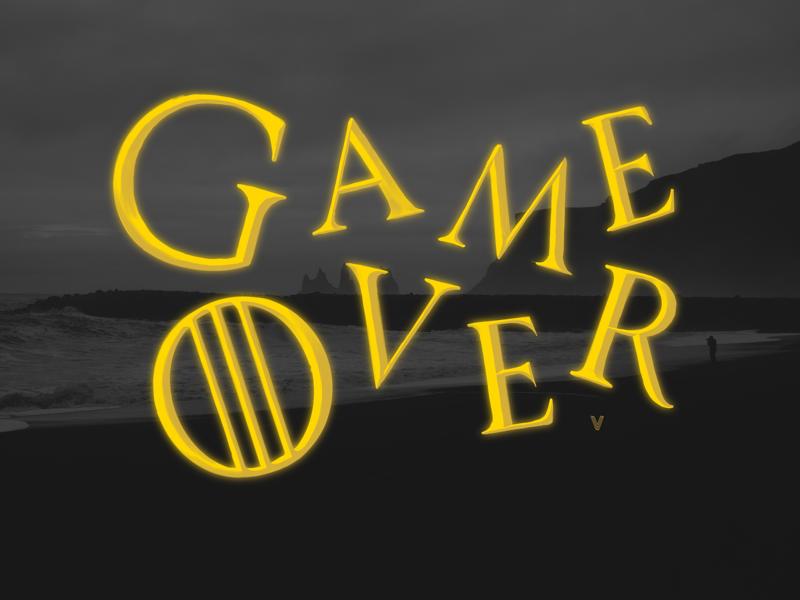 Game (of Thrones is) Over got8 got gameofthrones customtype typedesign handwriting illustrations handmadefont typo logos ipadlettering calligraphy logotypes typographic typographydesign typography logonew logoprocess logodesigner logobrand