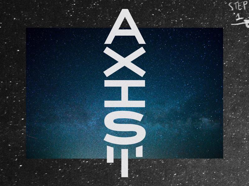 AXIS logotype cosmos space rocket axis logodesign typography type design logo logotype