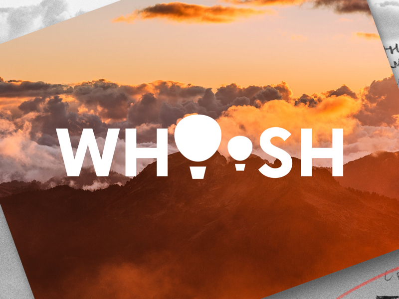 WHOOSH | DailyLogoChallenge 02 design graphic design logo design clouds landscapes hot air balloons logotype typography logo