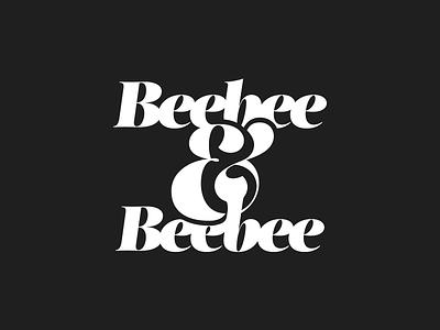 Beebee & Beebee merge scale bold fat fat face ampersand script typography logotype logo