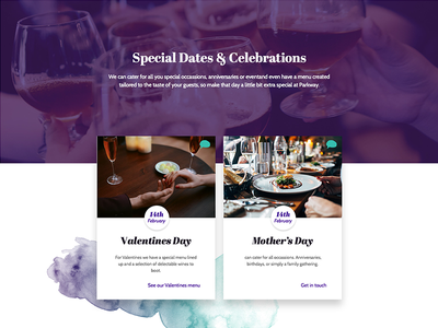 Event Cards watercolour spanish cards dates special occasion bar wine purple entertainment events restaurant