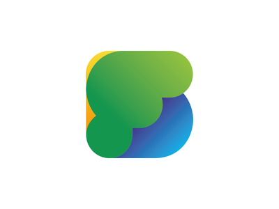 Strettfest branding blue green brand typography gradient shropshire festival rounded colour logo