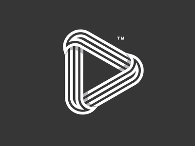 Work in progress | A6 logo mark marks video marketing negative line play media minimalist minimal logo