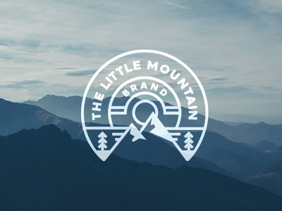 The Little Mountain Brand sun snow nature minimalist tree brand adventure outdoors mountain