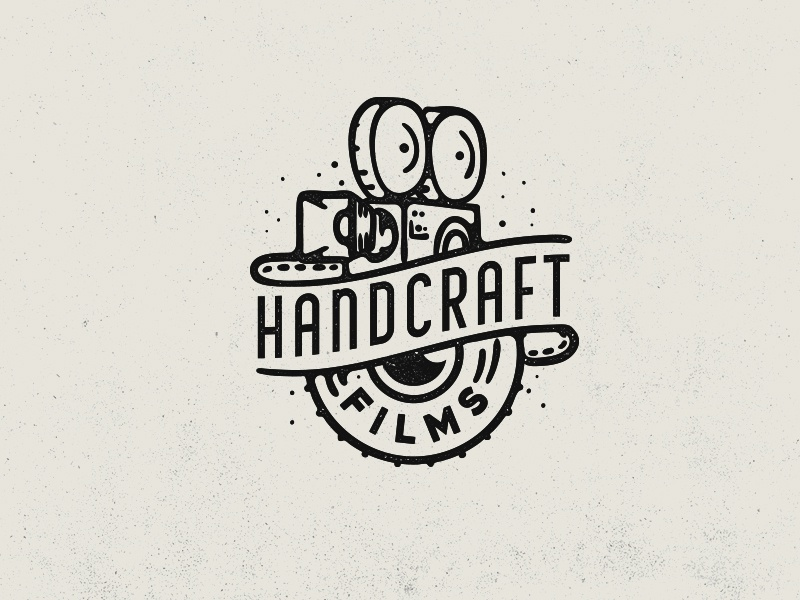 Handcraft Films vintage camera camera logo film logo photo lens camera handcraft movie film line retro vintage