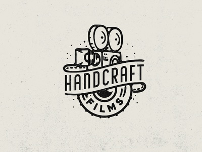 Handcraft Films vintage camera camera logo film logo photo lens camera handcraft movie film line retro vintage