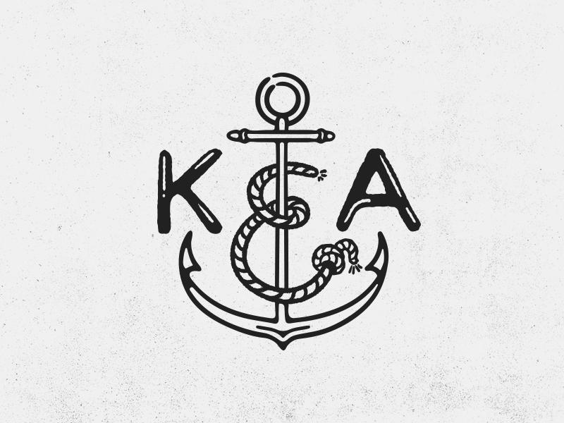 K&A vintage logo anchor logo monogram shop apparel clothing vintage sea anchor knot