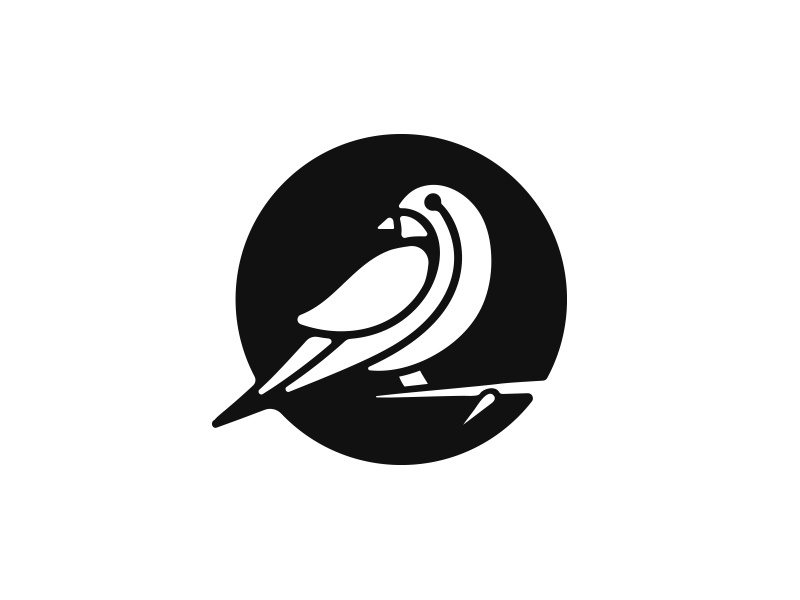 Sparrow bird logo sparrow mark sparrow logo negative space logo mark mark logo negative minimal identity bird sparrow