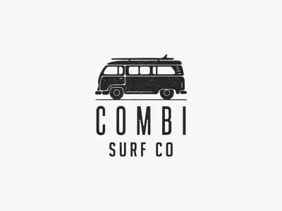 Combi Surf Co rv logo surf logo summer minimal combi surfing beach surf
