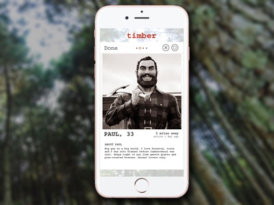 DailyUI #006 - Profile App iphone app courier dating mobile tinder profile
