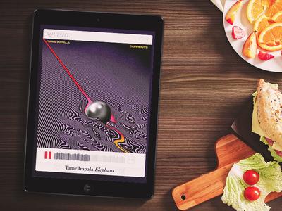 DailyUI #009 - Music Player responsive color music player mockup tablet ipad