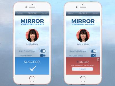 DailyUI #011 - Flash Message (Error/Success) daily ui montserrat success error iphone