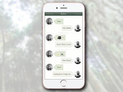DailyUI #013 - Direct Messaging paul bunyan daily ui montserrat timber messaging iphone