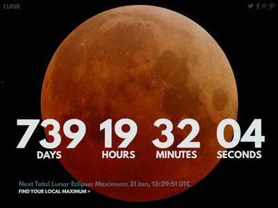 DailyUI #014 - Countdown Timer league spartan lunar eclipse countdown timer daily ui