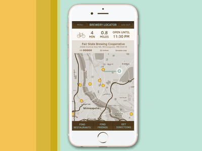 DailyUI #020 - Location Tracking clear sans location tracking daily ui app beer mobile iphone