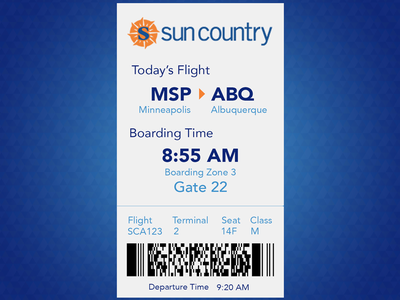 DailyUI #024 Boarding Pass avenir boarding pass mobile ux daily ui