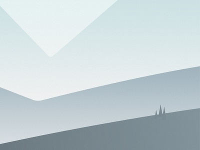Shapes // Mountain Pass landscape gradient hills trees minimal mountain