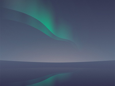 Northern Lights northern lights polar reflex relaxing minimal landscape sea gradients