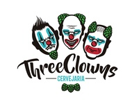Three Clown Beer Logo
