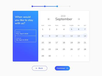 DAILY UI #080 : Date Picker process datepicker trip calendar selection interface design daily ui