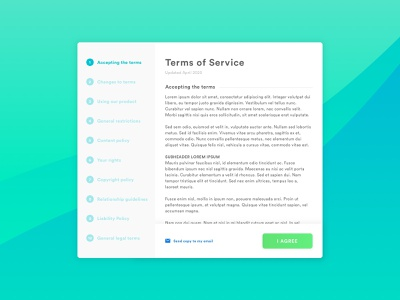 Daily UI #089 : Terms of Service terms and conditions terms of service steps ui user interface minimal dailyui modern design interface design daily ui