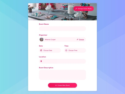 Daily UI #090 : Create New ui user interface minimal simple design interface design form fields form daily ui