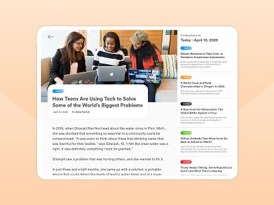 Daily UI #094 : News user interface design simple light app modern ui interface design daily challange dailyui newsfeed news