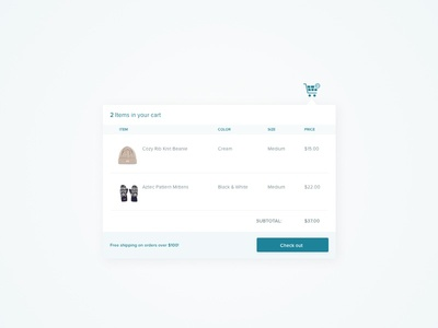 Daily UI #058 : Shopping Cart