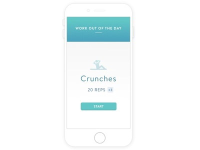 Daily UI #062 : Workout Of The Day
