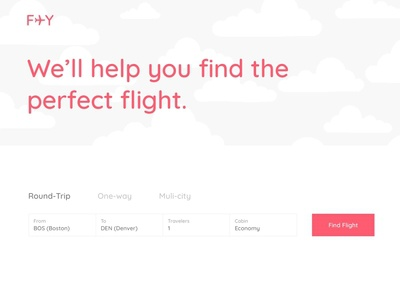 Daily UI #068 :  Flight Search