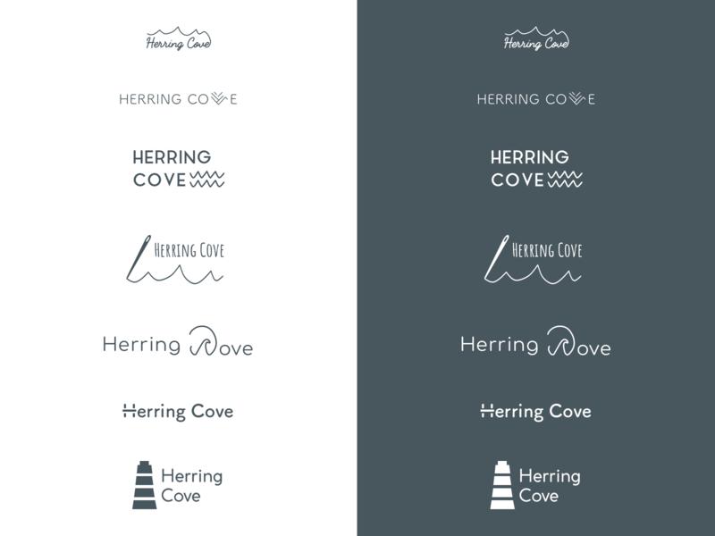 Herring Cove Logo Ideas V1 handcrafted authentic beachy branding logo design logos