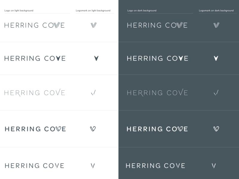 Herring Cove Logos V2 beachy authentic branding logo design logos