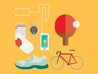 Flat Sports Illustration