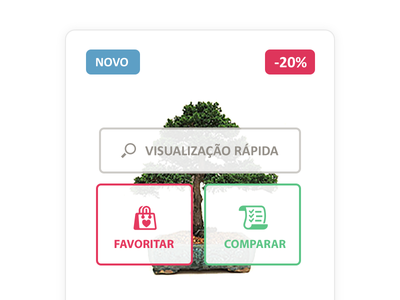 Obonsai Store store ecommerce virual store ui web products tree bonsai red clean simple