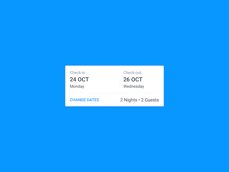 Android Date Selection check out check in block picker date booking.com material android