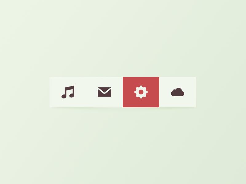 Toolbar Rebound icons freebie toolbar rebound glyphs mail psd hover music metro red clean flat