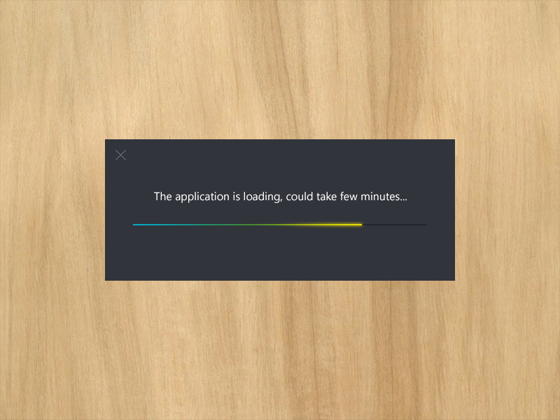 Loading Rebound loading bar progress dark color gradient flat metro window freebie psd download ux ui simple minimal modal