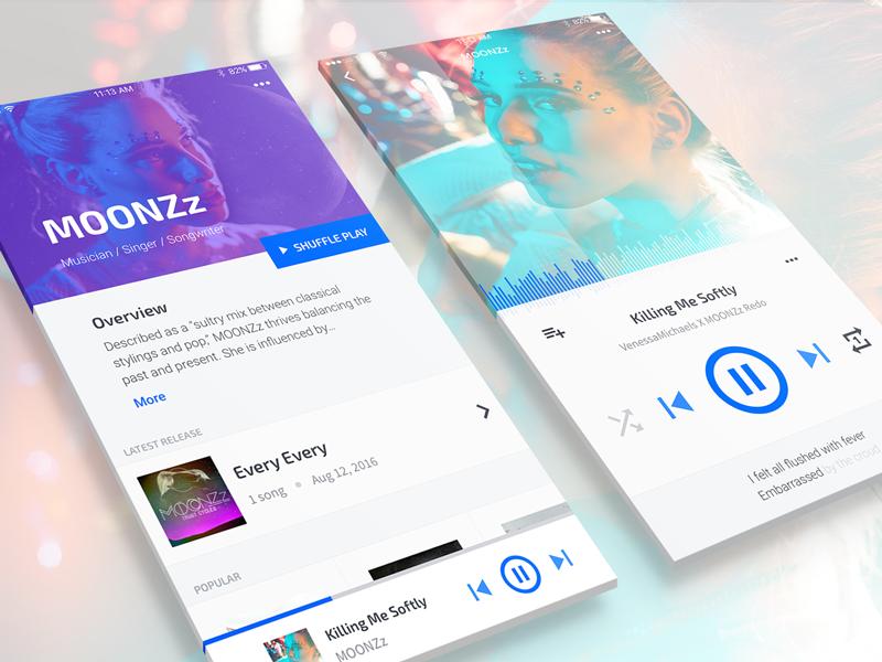 Music App Concept - Design Exercise