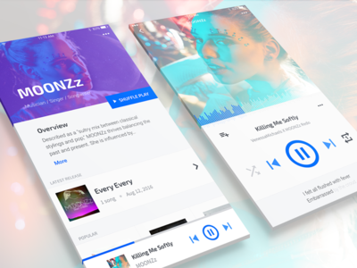 Music App Concept - Design Exercise ux ui track profile player play music iphone app lbum