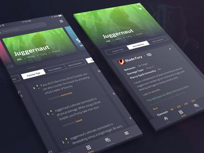 Dota App - UI Concept iphone app interface game dota ux ui